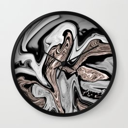 Fluid Kiss #2 #abstract #decor #art #society6 Wall Clock