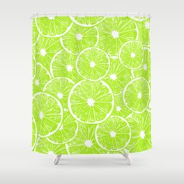Lime slices pattern Shower Curtain