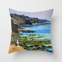 The world Is So Big And I Am So Small ~Southern California Throw Pillow
