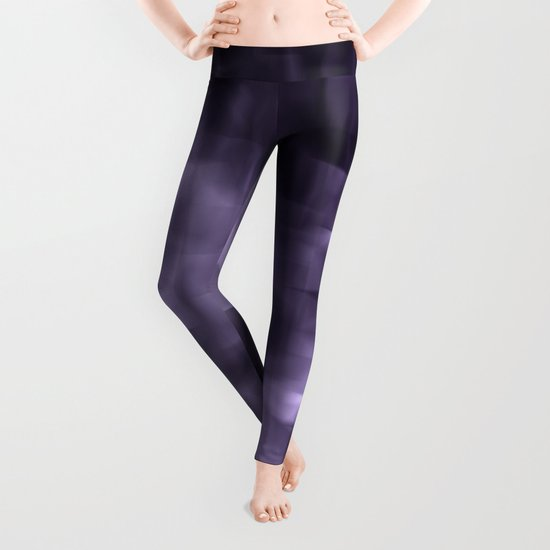 Purple abstract painting. Leggings