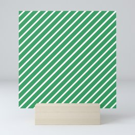 Kelly Green Tight Stripes Mini Art Print