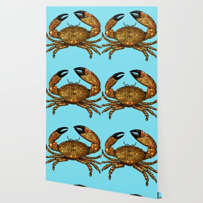 Stone Rock'd Stone Crab By Sharon Cummings Wallpaper