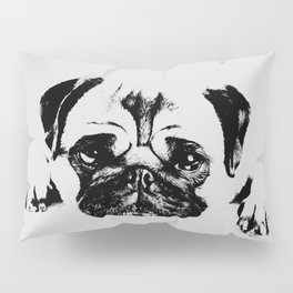 Pug dog Digital Art Pillow Sham