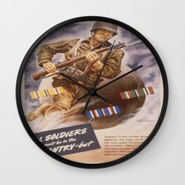 Vintage poster - U.S. Infantry Wall Clock
