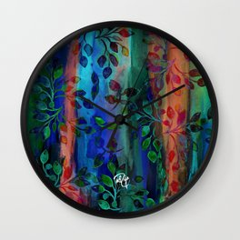 Deserted Garden (Blue) Wall Clock