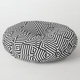 Op art pattern with black white rhombuses Floor Pillow