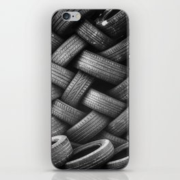 Car tires pattern iPhone Skin