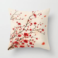 Oriental plum blossom in spring 006 Throw Pillow