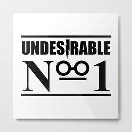HP Undesirable No. 1 II Metal Print