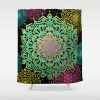 boho Shower Curtains featuring Boho Medallions by Lisa Argyropoulos