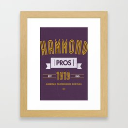 Hammond Pros Framed Art Print
