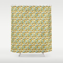Flying Fish - Art Deco Design Shower Curtain