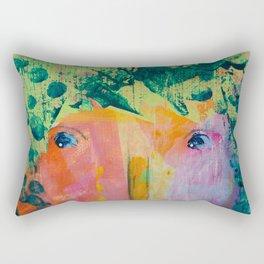 Flapper Girl by Jenny Friske-Baer Rectangular Pillow