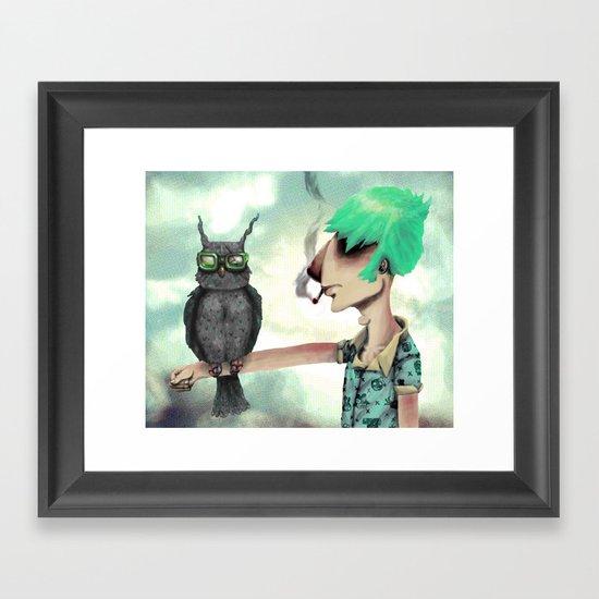 Punk N' A Bird Framed Art Print