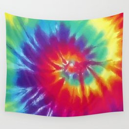 Tie Dye Swirl Pattern Wall Tapestry