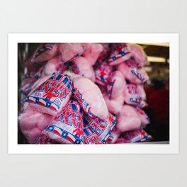 Texas Cotton Candy Art Print
