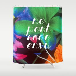 No Post Code Envy Tropical Shower Curtain