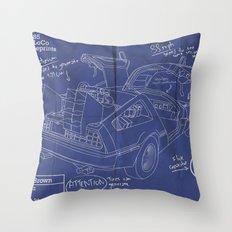Time Machine Blueprint Throw Pillow