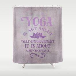 Yoga Philosophy Typography Art Shower Curtain