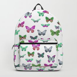 Butterfly Pattern in blue, green & pink Backpack