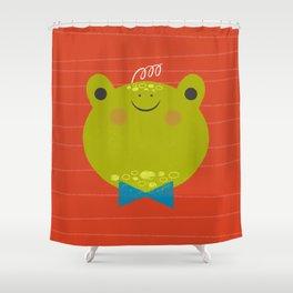 Dressy Froggy Shower Curtain