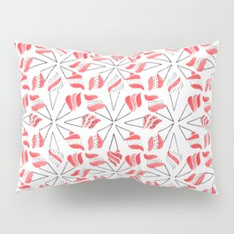 RED CONE / pattern pattern Pillow Sham