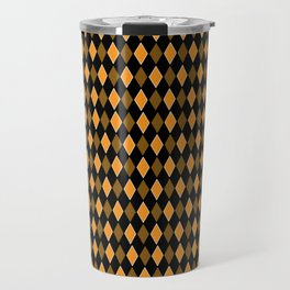 Yellow & Black Diamond shaped Geometric Design Travel Mug