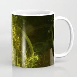 Magical Fractal Fairy Ferns in an Emerald Forest Coffee Mug