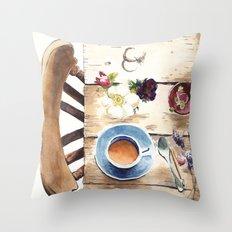 Table setting Throw Pillow