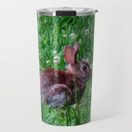 Bunny In The Meadow Travel Mug
