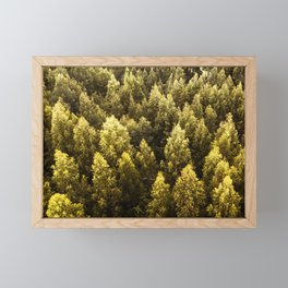 pine tree pattern Framed Mini Art Print