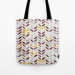 Modern Herringbone Chevron Pattern Painting Tote Bag