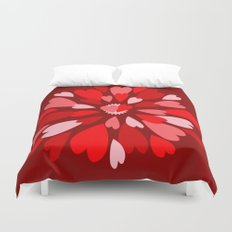Love Is / Hearts Galore Duvet Cover