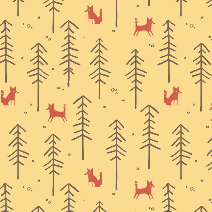 Fox hiding in the forest Leggings