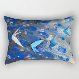 Origami Cranes Rectangular Pillow