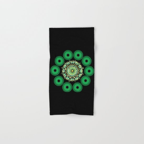 Anahata Flower in the Night Hand & Bath Towel