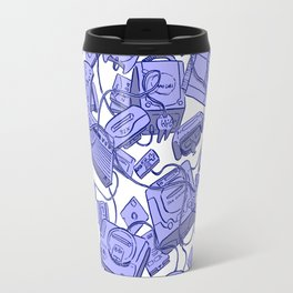 Retro Gamer - Blue Travel Mug
