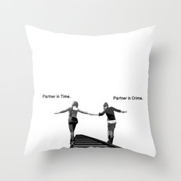 Partner in Time, Partner in Crime, Max Caulfield and Chloe Price Train Tracks Throw Pillow