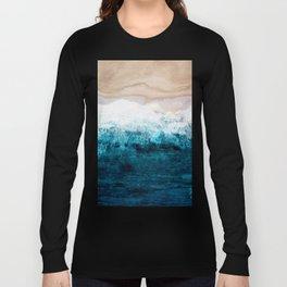Watercolour Summer beach III Long Sleeve T-shirt