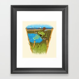 A glance into the future... Framed Art Print