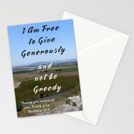 Give Generously Stationery Cards