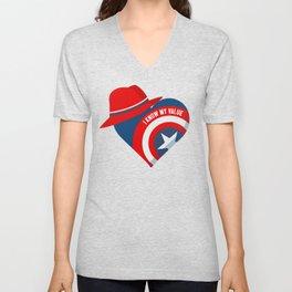 Superhero Heart Agent Unisex V-Neck