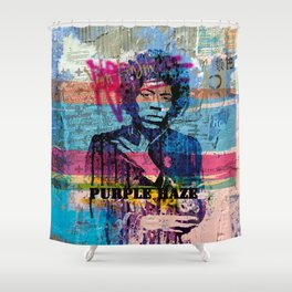 PURPLE HAZE STREET ART Shower Curtain