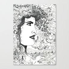 Vision on [Original Pen drawing] Canvas Print