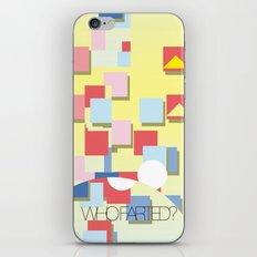 WHOFARTED? iPhone & iPod Skin