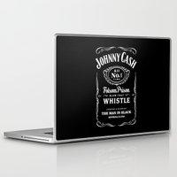 johnny cash Laptop & iPad Skins featuring Cash by IIIIHiveIIII