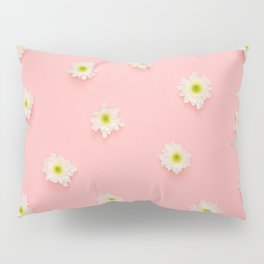 Daisies In Pink Pillow Sham