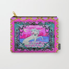 Pink & Gold Unicorn Fantasy Abstract Design Carry-All Pouch