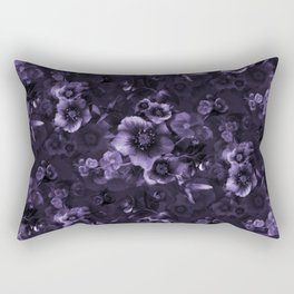 Moody florals purple by Odette Lager Rectangular Pillow