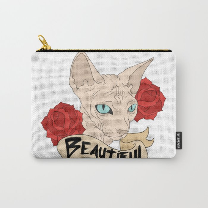 Beautiful Sphynx Carry-All Pouch